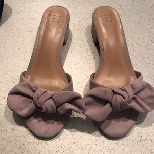 Lavender Slides with Bow
